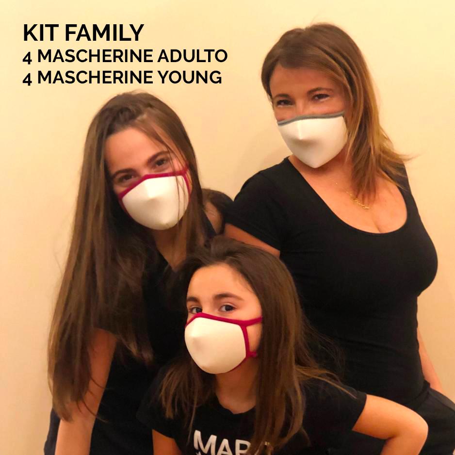 KIT MASCHERINE FAMILY - Abbigliamento da lavoro in TNT, emergenza covid